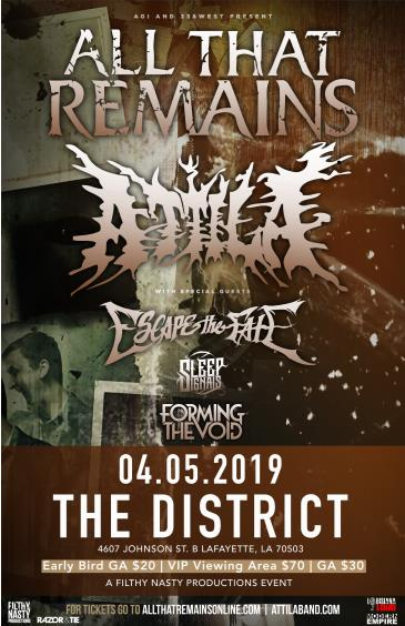 All That Remains & Attila w/ Escape the Fate: Main Image