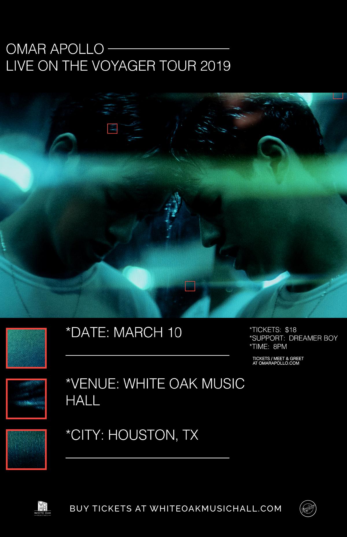 Buy Tickets to Omar Apollo, Dreamer Boy in Houston on Mar 10