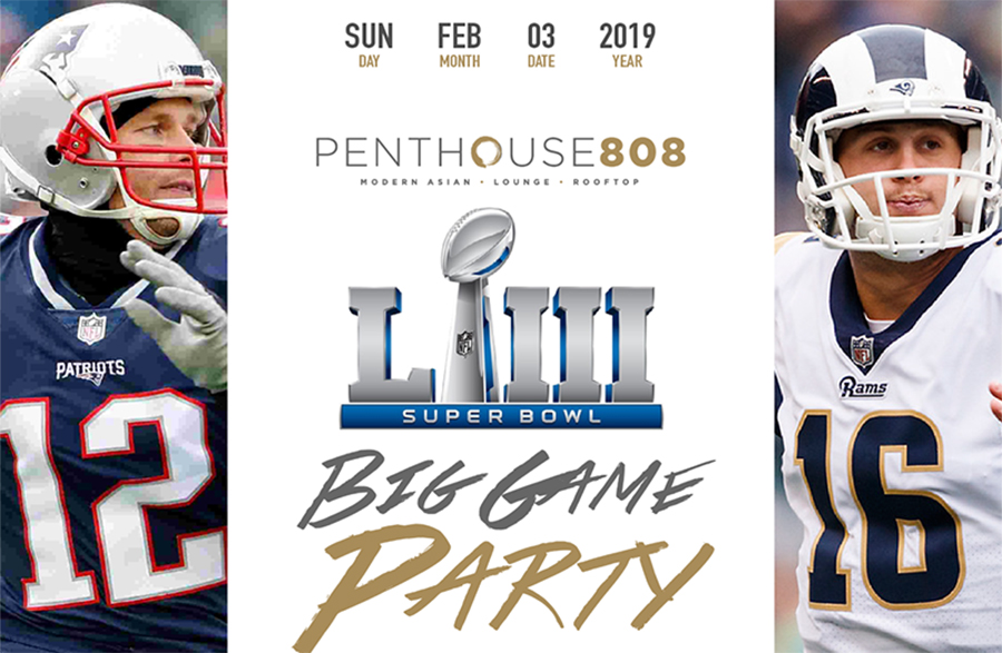 Super Bowl Sunday Unlimited Openbeer & Food Buffet Rooftop Party Ravel at Penthouse 808 | GametightNY.com