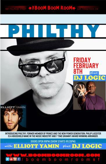PHILTHY [Prince]  + DJ LOGIC + ELLIOTT YAMIN [American Idol]: Main Image