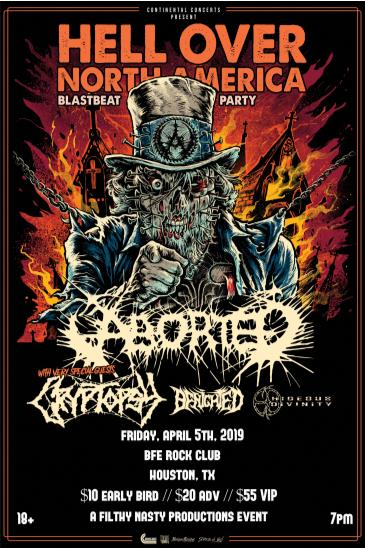 Aborted w/ Cryptopsy, Benighted and Hideous Divinity: Main Image
