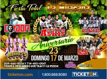 FIESTA TOTAL EN TRACY: Main Image