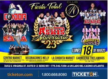CANCELLED-FIESTA TOTAL EN RENO: Main Image