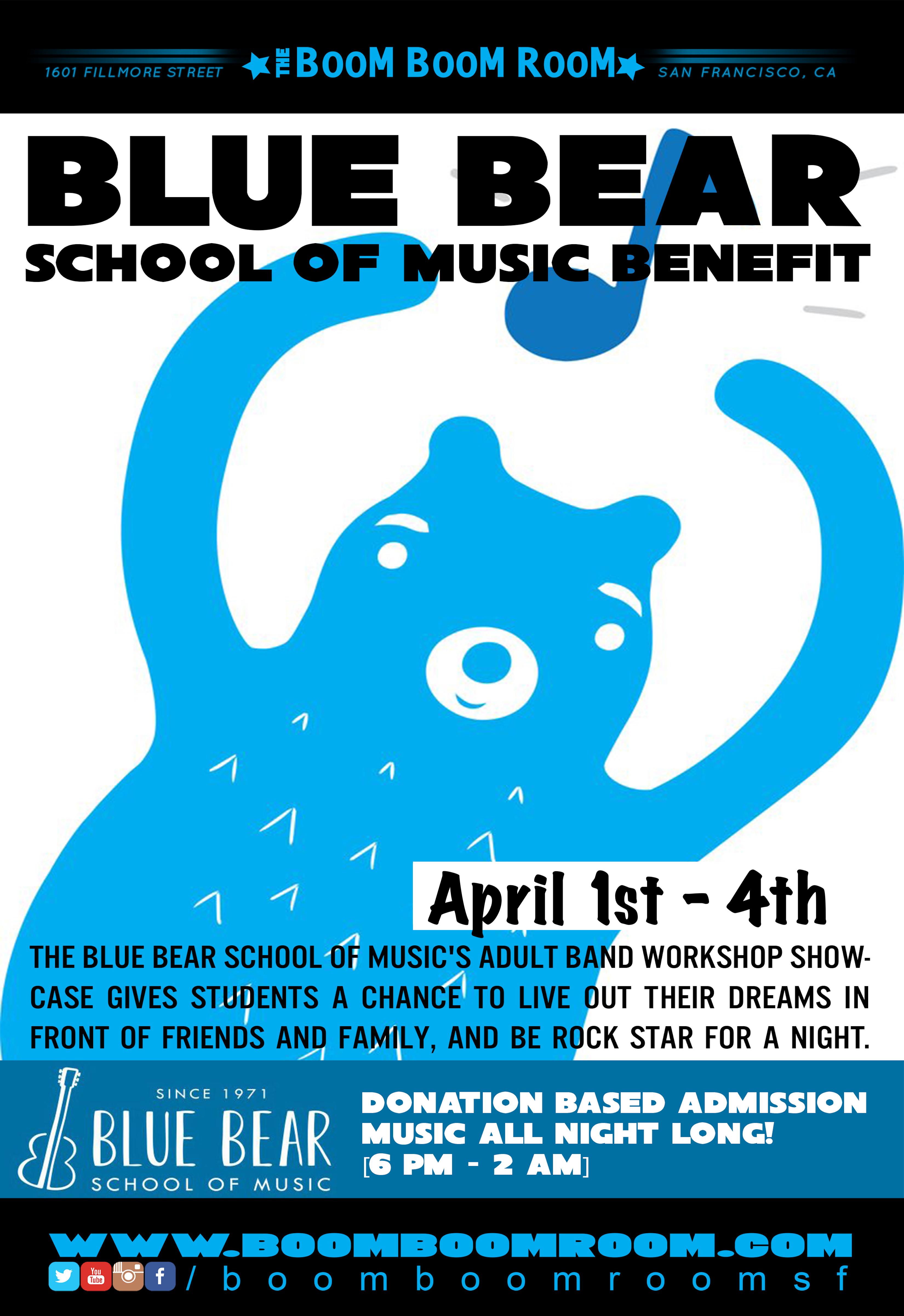 Blue Bear School Of Music Benefit Tickets 04/02/19