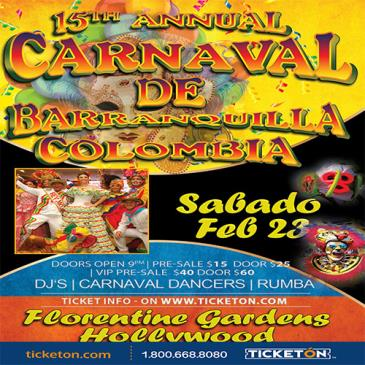 CANCELED 15TH ANNUAL CARNAVAL DE BARRANQUILLA: Main Image
