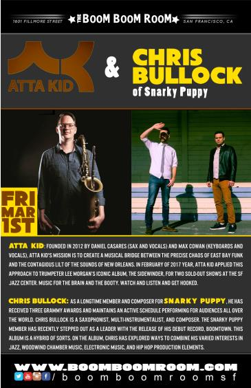 ATTA KID + CHRIS BULLOCK BAND [of Snarky Puppy - Album Tour]: Main Image