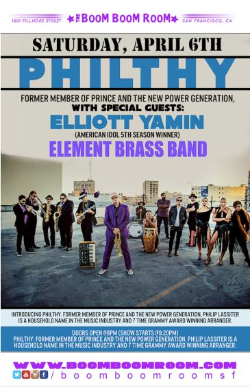 PHILTHY [Prince] + ELLIOTT YAMIN [Amer Idol], ELEMENT BRASS: Main Image