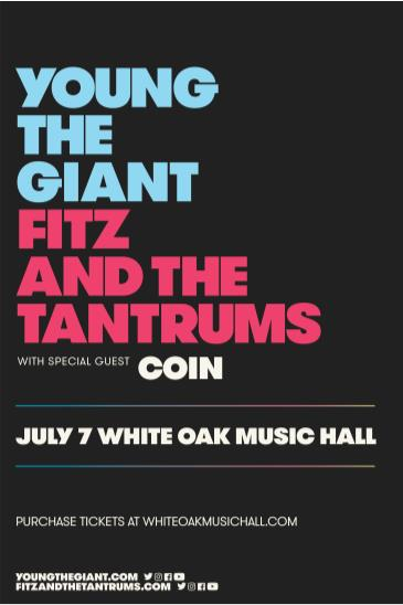 Young the Giant, Fitz and the Tantrums: Main Image