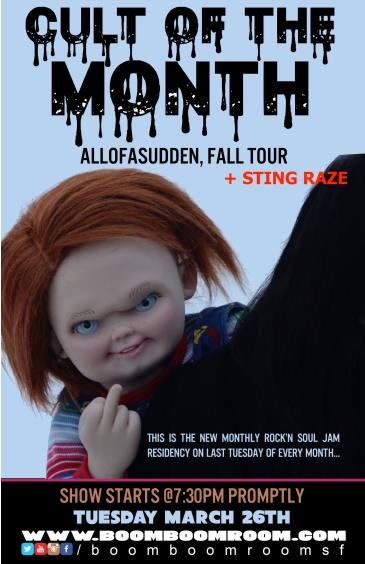C.U.L.T. -  AllofaSudden, Fall Tour, Sting Raze (7:30pm): Main Image