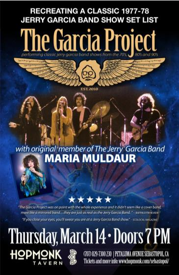 The Garcia Project w/ Maria Muldaur: Main Image