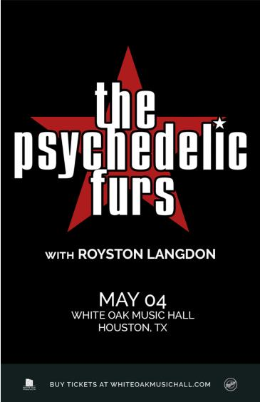 The Psychedelic Furs, Royston Langdon: Main Image