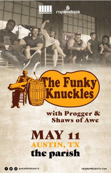 The Funky Knuckles w/ Progger, Shaws of Awe: Main Image