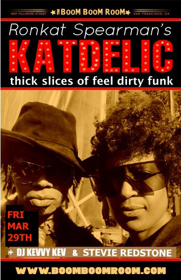Katdelic  (feel dirty funk) + Stevie Redstone &DJ Kevvy Kev: Main Image