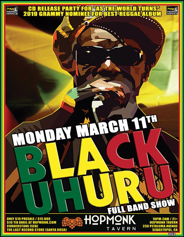Buy Tickets to BLACK UHURU (FULL BAND SHOW) AS THE WORLD TURNS - CD