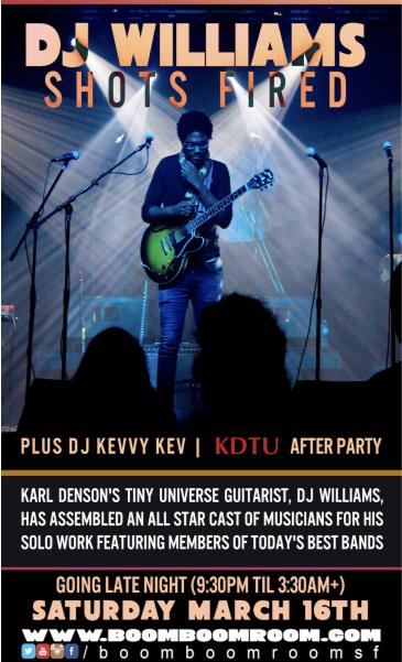 SHOTS FIRED BAND [of Karl Denson] AFTER PARTY +Crooked Stuff: Main Image