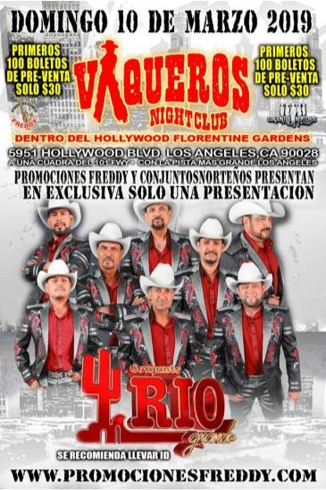 Buy Tickets to CONJUNTO RIO GRANDE in los Angeles on Mar 10, 2019