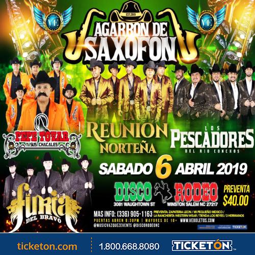 Agarron De Saxofon Winston Salem Tickets Boletos Disco Rodeo