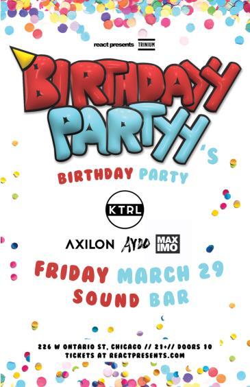 BIRTHDAYY PARTYY's BIRTHDAY PARTY: Main Image