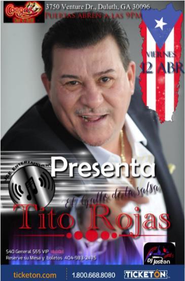 TITO ROJAS EN ATLANTA: Main Image