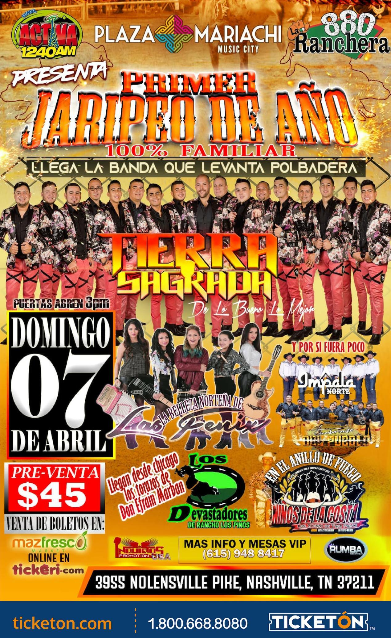 Primer JAripeo del Año Tickets Boletos Plaza Maricahi Tn