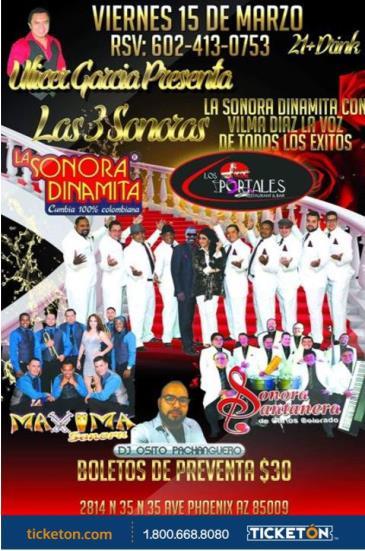 LAS 3 SONORAS.. DINAMITA - SANTANERA - MAXIMA: Main Image