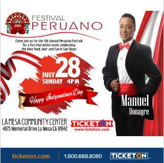 5TO FESTIVAL PERUANO SAN DIEGO: Main Image