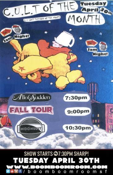 C.U.L.T. -  AllofaSudden, Fall Tour, MoonSuit (7:30pm): Main Image