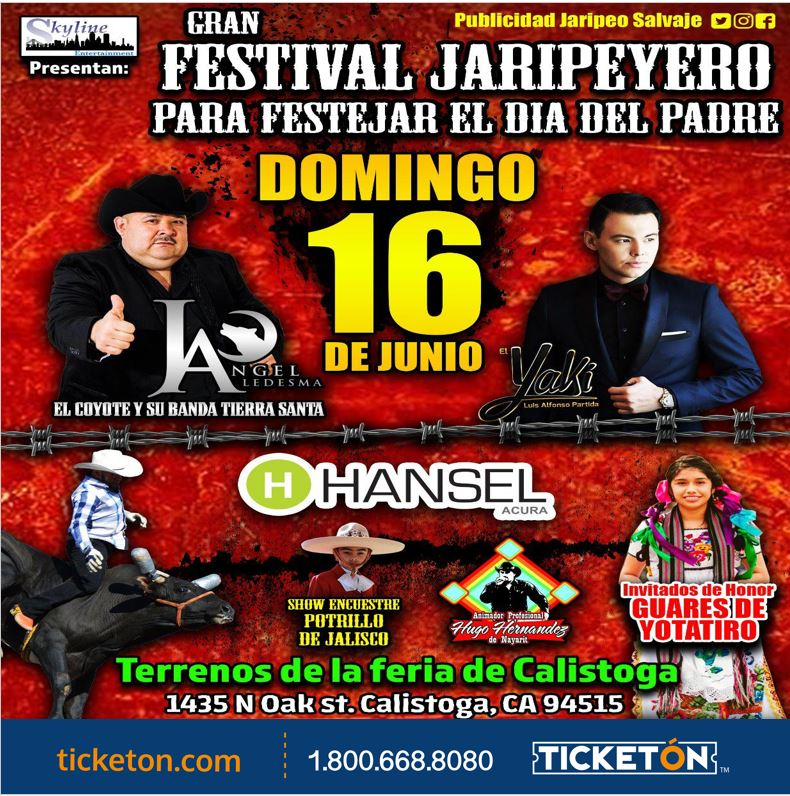 Jaripeo Baile El Coyote Feria de Calistoga Tickets Boletos