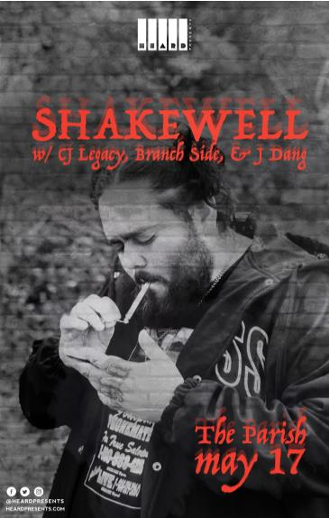 CANCELLED Shakewell w/ CJ Legacy, Branch Side, J Dang: Main Image