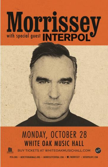 Morrissey with special guest Interpol: Main Image