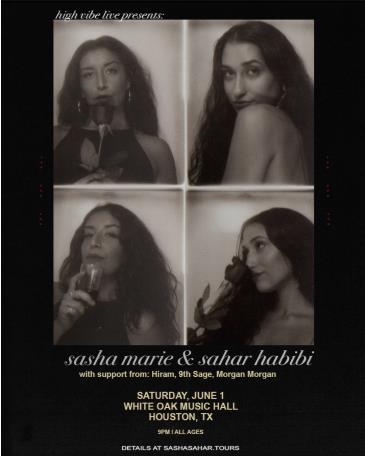High Vibe Live Presents: Sasha Marie & Sahar Habibi: Main Image