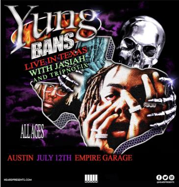 Yung Bans w/ Jasiah and Tripnotix CANCELLED: Main Image