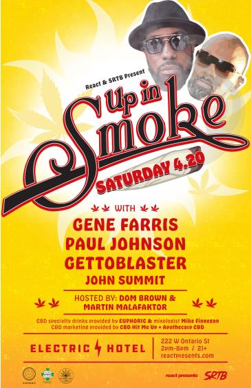 UP IN SMOKE w/ Gene Farris: Main Image