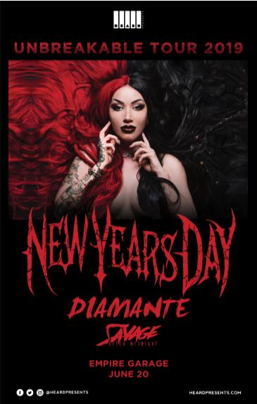 New Years Day w/ Diamante, Savage After Midnight: Main Image