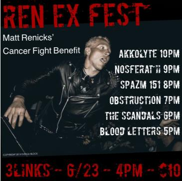 Ren EX Benefit (Benefit for Matt Rennicks): Main Image