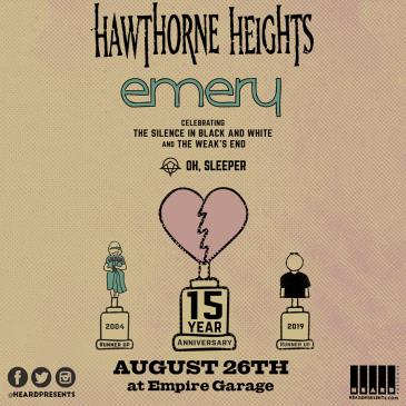 Hawthorne Heights & Emery with Oh, Sleeper: Main Image