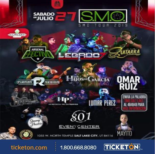 Smoke Me Out Salt Lake City Tickets Boletos 801 Event Center