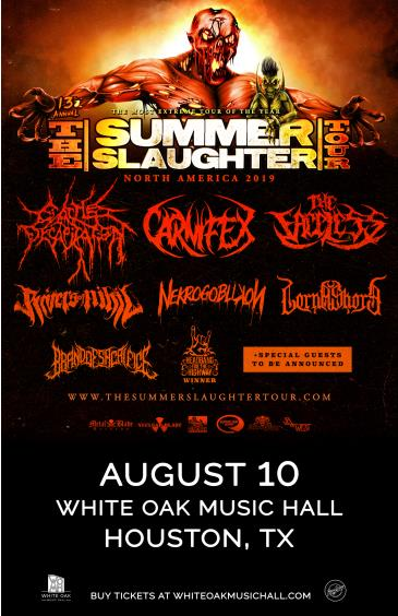 THE SUMMER SLAUGHTER TOUR 2019: Main Image