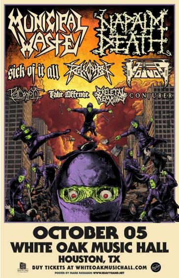MUNICIPAL WASTE & NAPALM DEATH with feature guests: Main Image