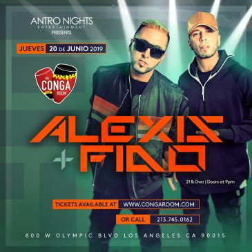 ALEXIS Y FIDO en Orange County! MOVED TO CONGA ROOM Thursday
