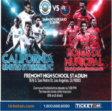 CALIFORNIA UNITED S. VS ROJOS DE MUNICIPAL: Main Image