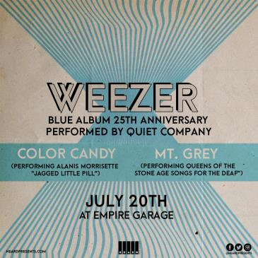 Weezer Blue Album 25th Anniv. w/ Quiet Company, Mt. Grey-img