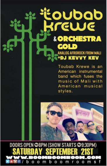 TOUBAB KREWE + Orchestra Gold (& DJ Kevvy Kev): Main Image
