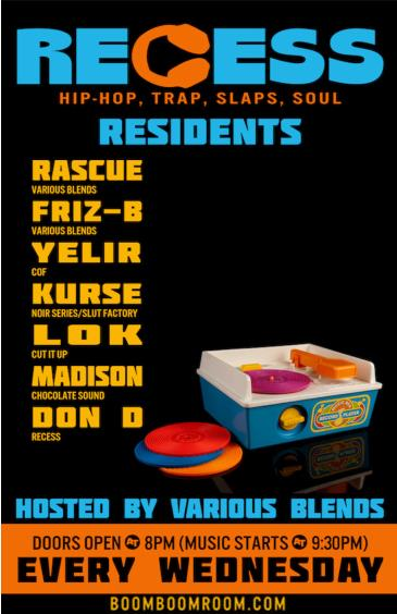RECESS *performing Live DJ Sets at BBR*  w/ Guest Stars: Main Image