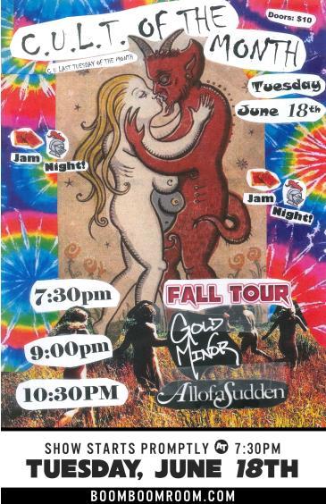 C.U.L.T. - Fall Tour, Cali State Flowr, AllofaSudden (7pm): Main Image
