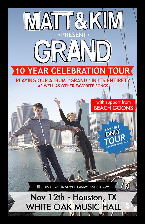 Buy Tickets to Matt and Kim present Grand - 10 Year
