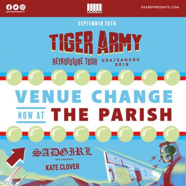 Tiger Army w/ SadGirl and Kate Clover - MOVED TO THE PARISH: Main Image