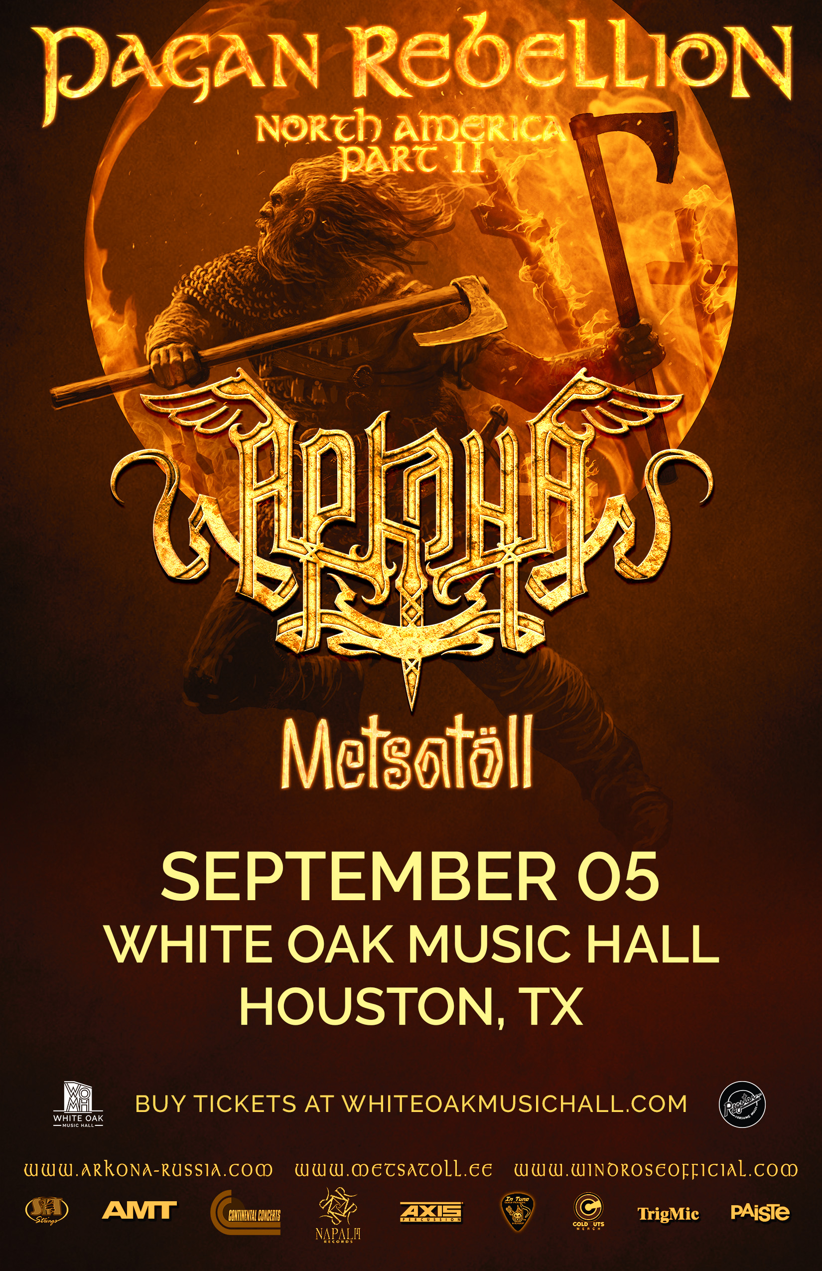 Buy Tickets to ARKONA with Metsatoll in Houston on Sep 05