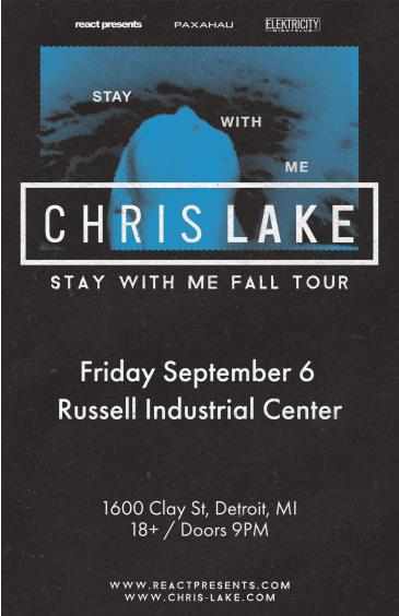 Chris Lake: Stay With Me Tour: Main Image