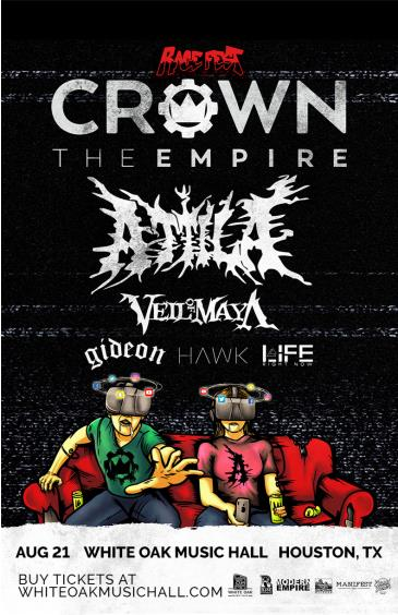 Crown The Empire – Rage Fest with Attila: Main Image